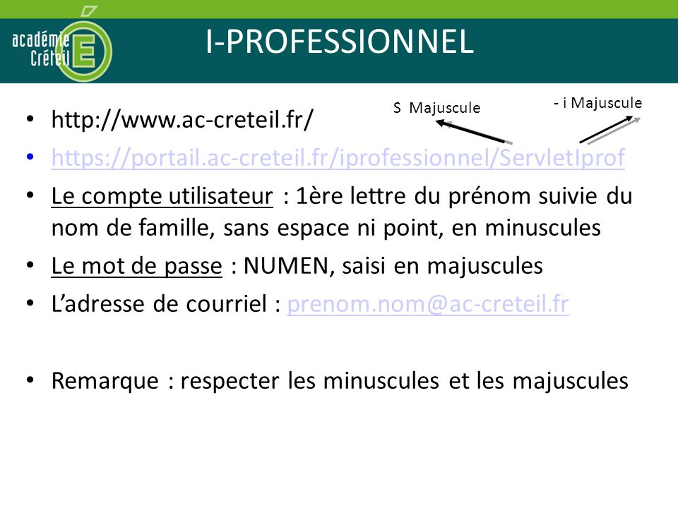 I-PROFESSIONNEL http://www.ac-creteil.fr/
