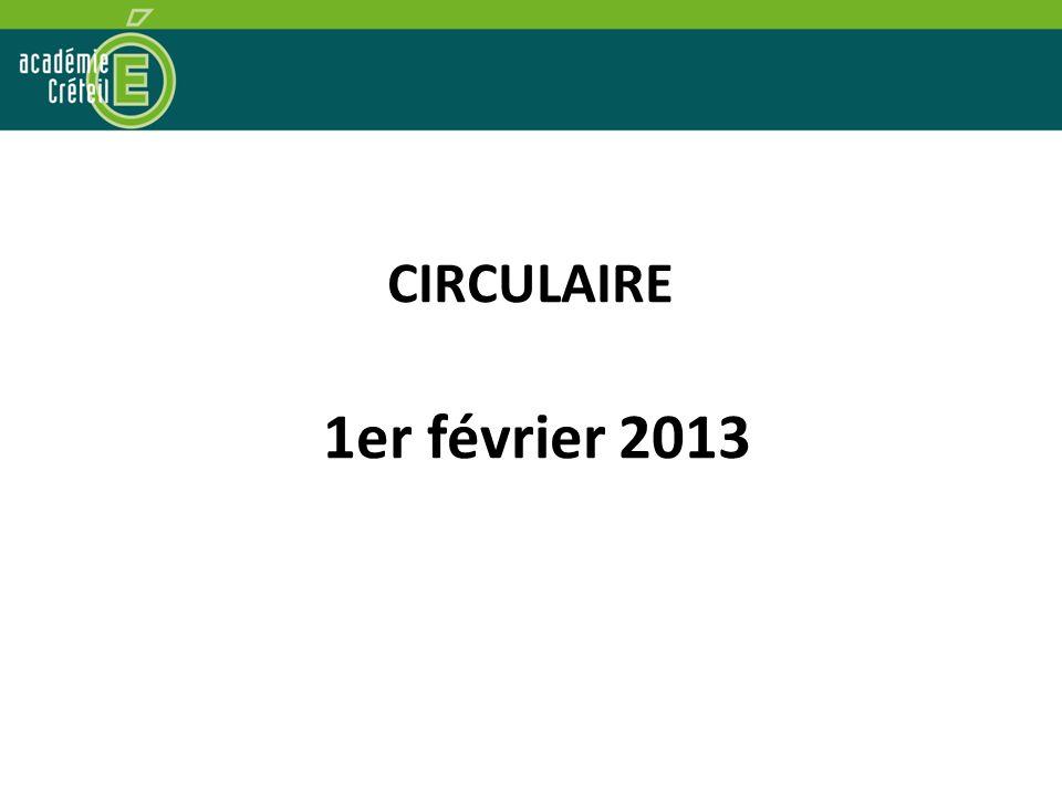 CIRCULAIRE 1er février 2013 3