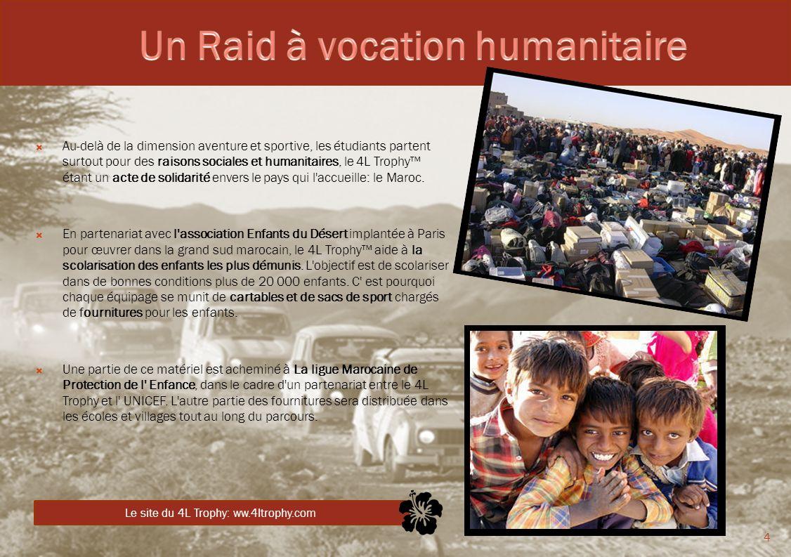 Un Raid à vocation humanitaire