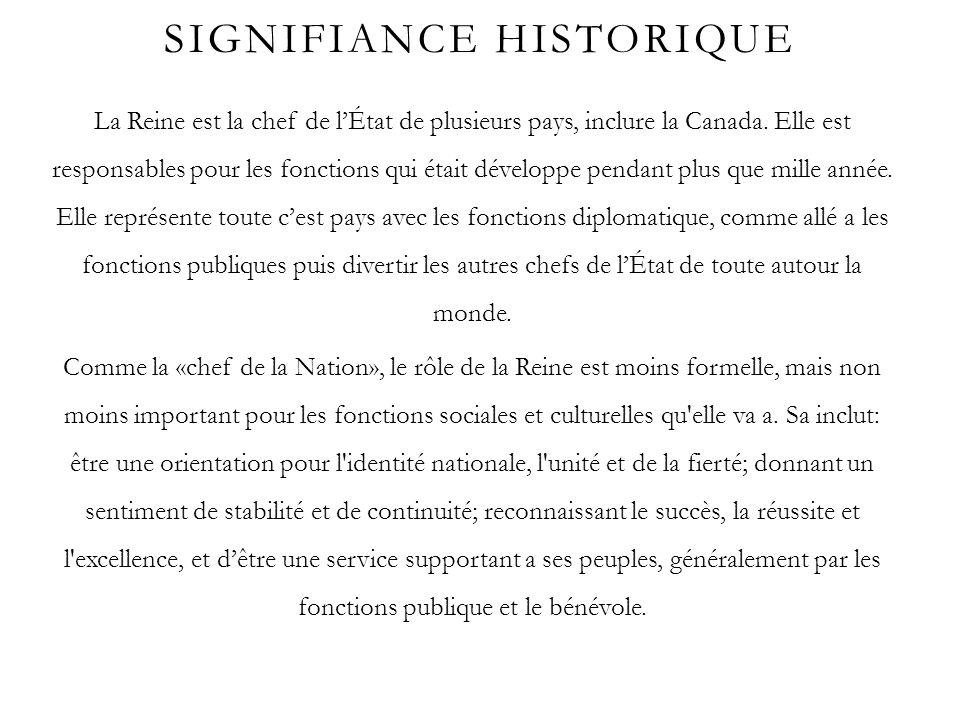 Signifiance Historique