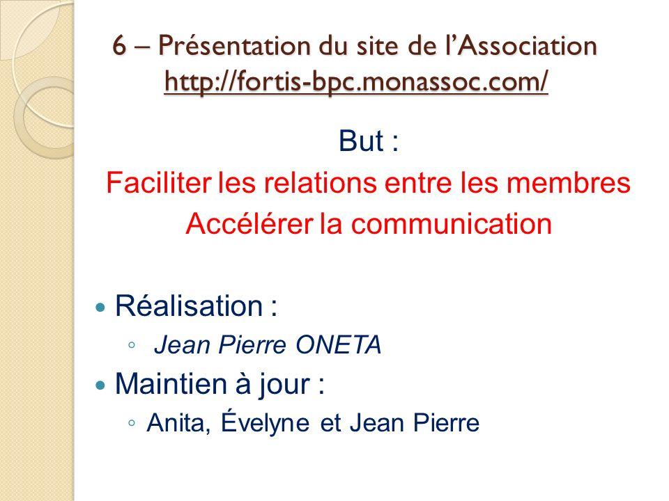 Faciliter les relations entre les membres Accélérer la communication