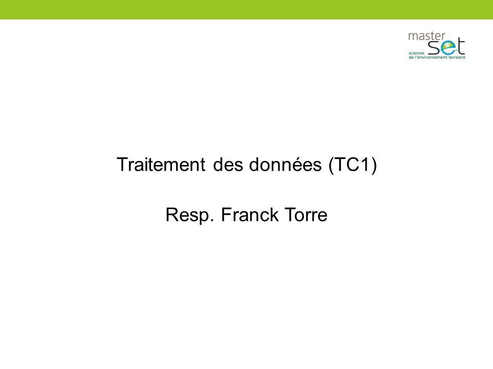Traitement des données (TC1)