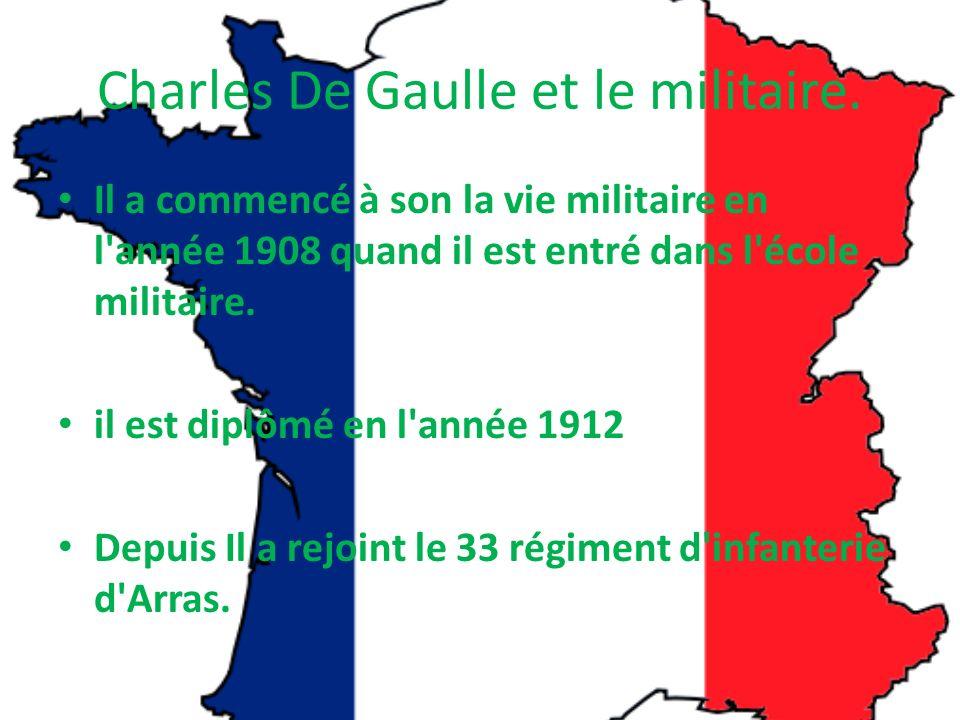 Charles De Gaulle et le militaire.