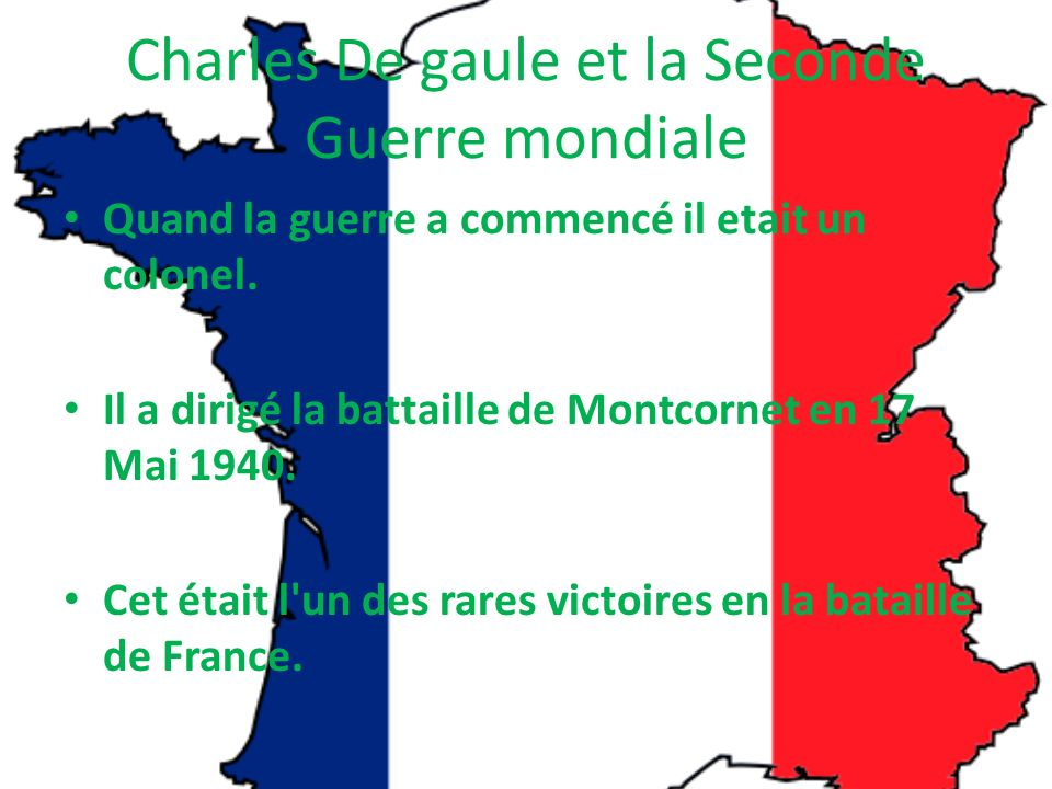 Charles De gaule et la Seconde Guerre mondiale