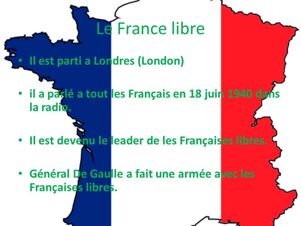 Le France libre Il est parti a Londres (London)