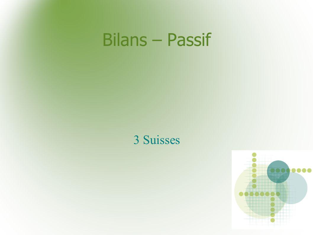 Bilans – Passif 3 Suisses