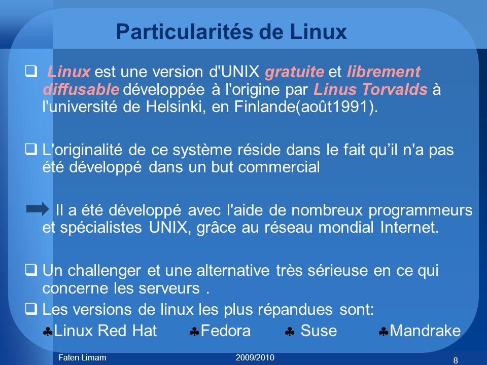 Particularités de Linux