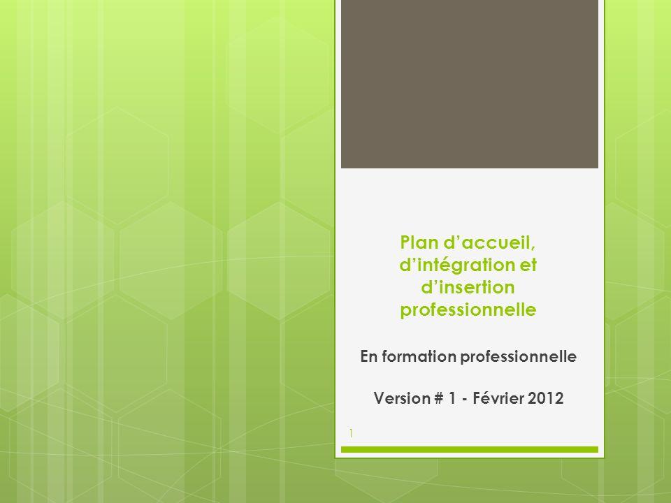 Plan d'accueil, d'intégration et d'insertion professionnelle