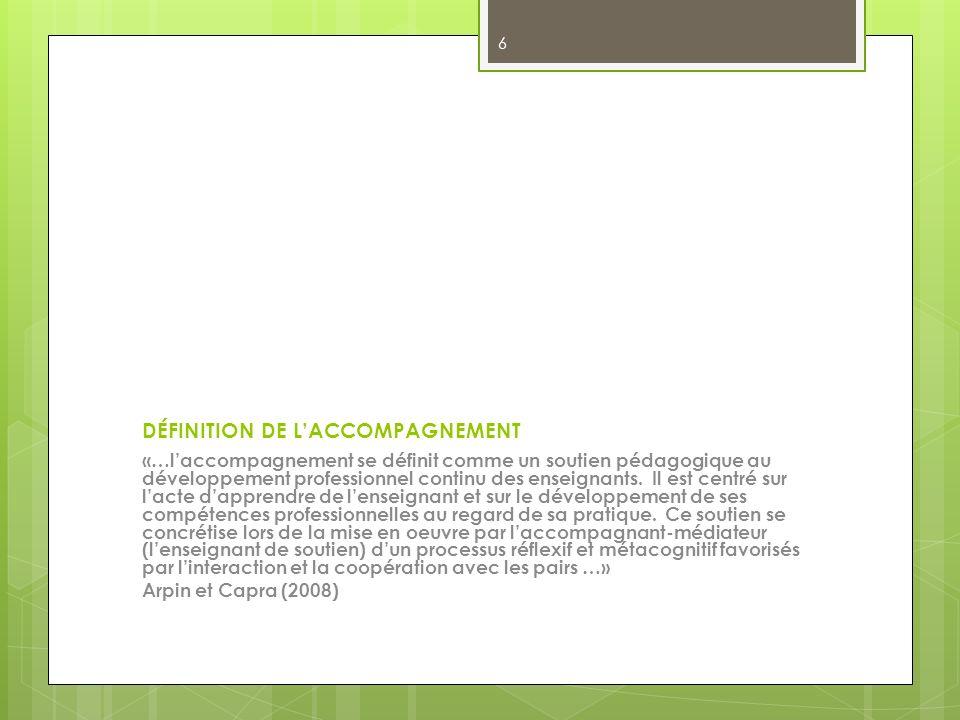 DÉFINITION DE L'ACCOMPAGNEMENT