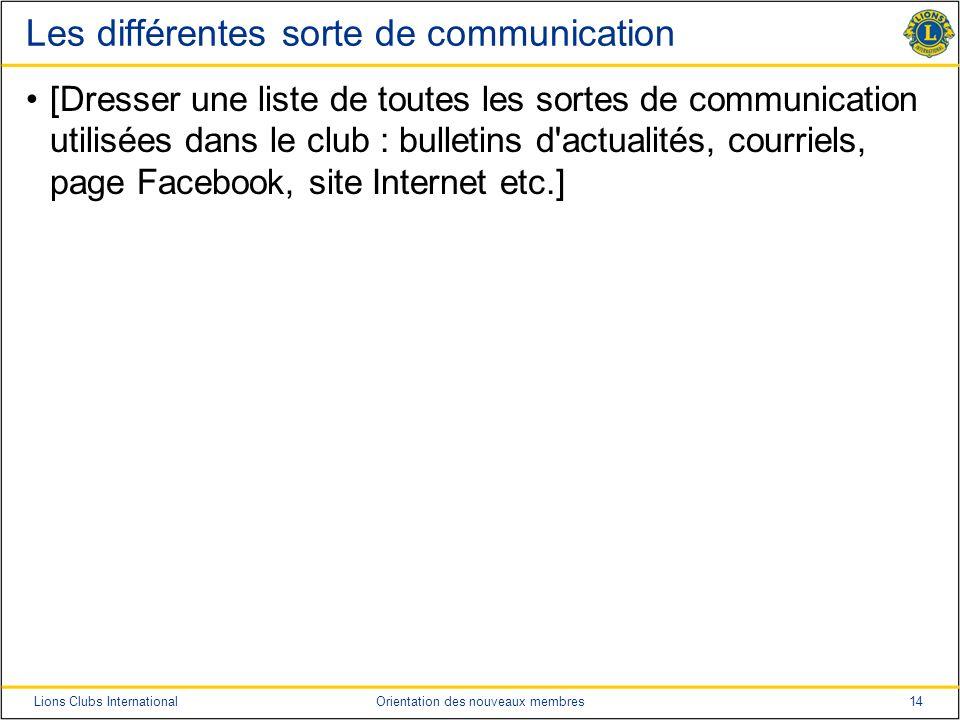Les différentes sorte de communication