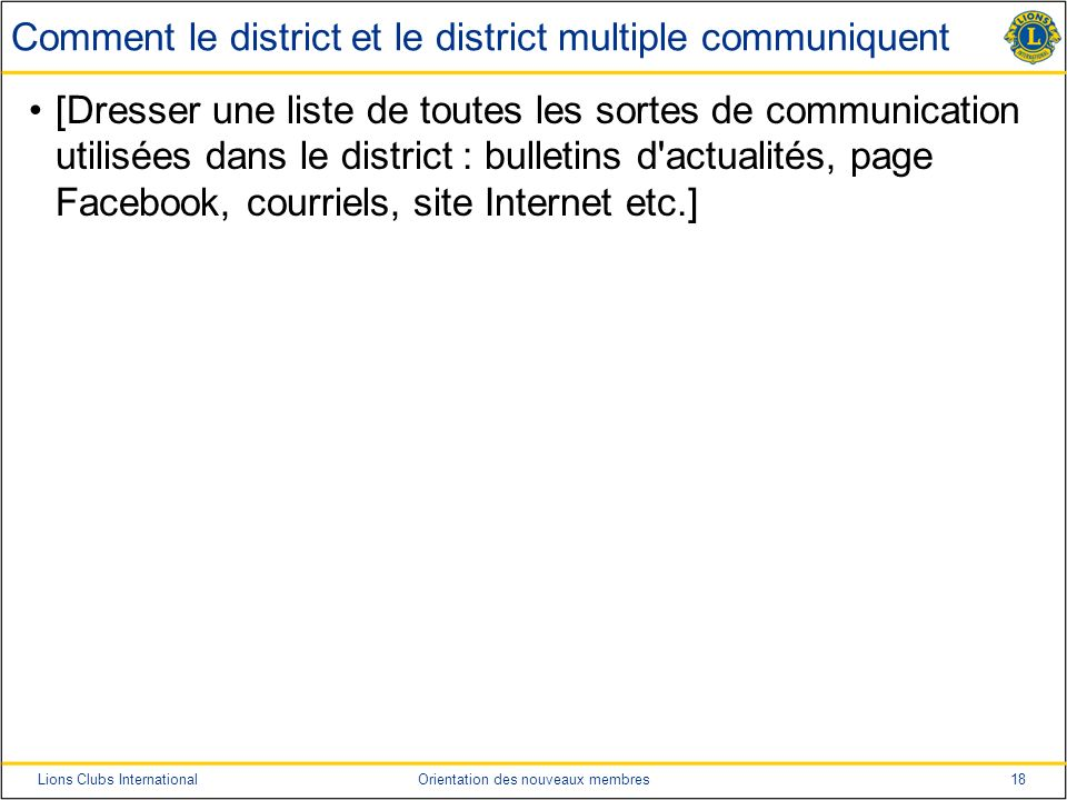 Comment le district et le district multiple communiquent