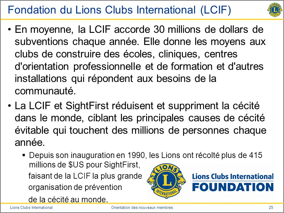 Fondation du Lions Clubs International (LCIF)