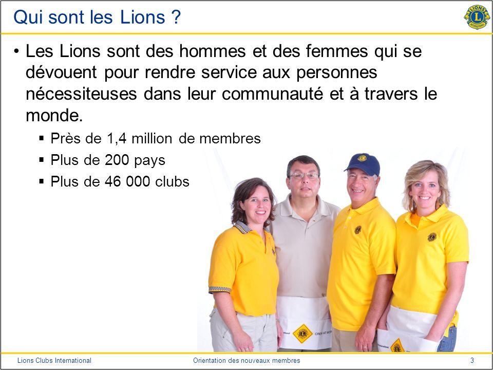 Qui sont les Lions