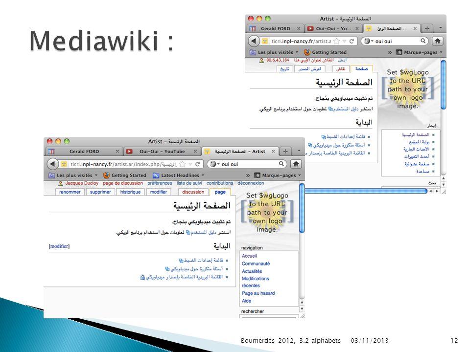 Mediawiki : Boumerdès 2012, 3.2 alphabets 22/03/2017