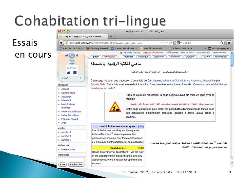 Cohabitation tri-lingue