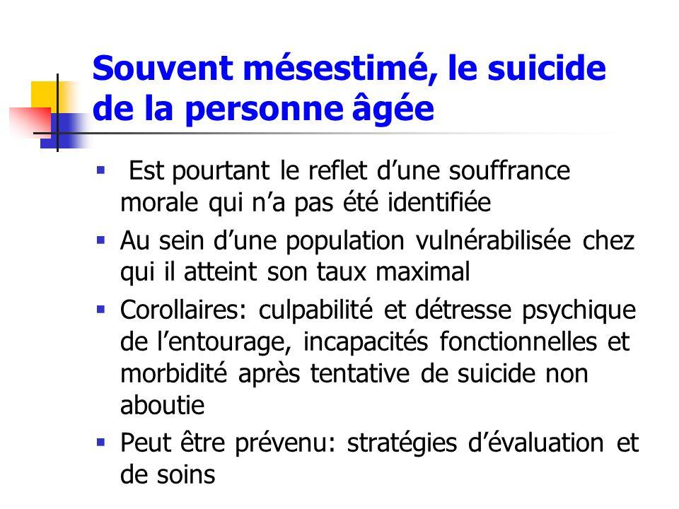 Souvent mésestimé, le suicide de la personne âgée