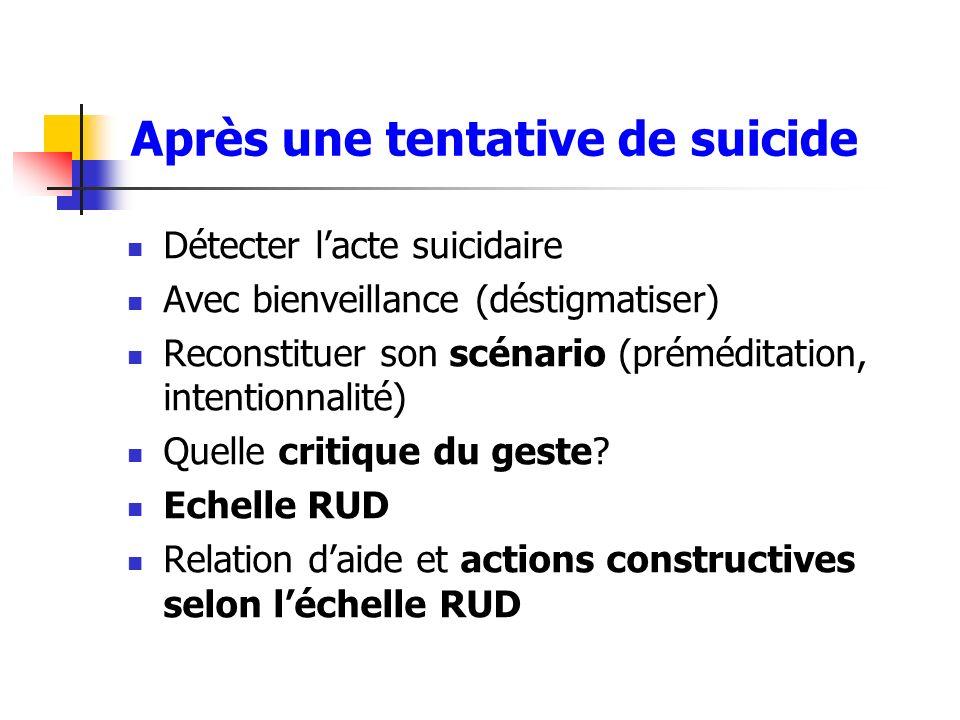Après une tentative de suicide