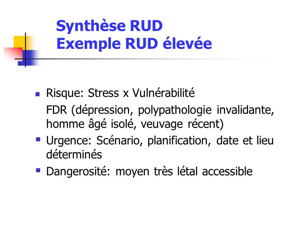 Synthèse RUD Exemple RUD élevée