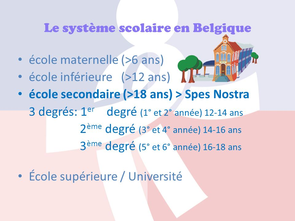 Le système scolaire en Belgique