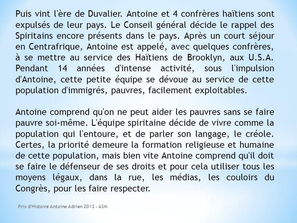 Puis vint l ère de Duvalier