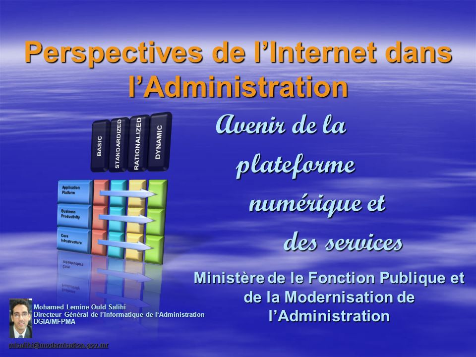 Perspectives de l'Internet dans l'Administration