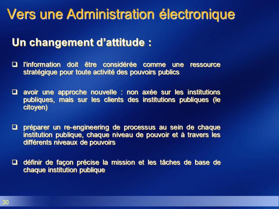 Vers une Administration électronique