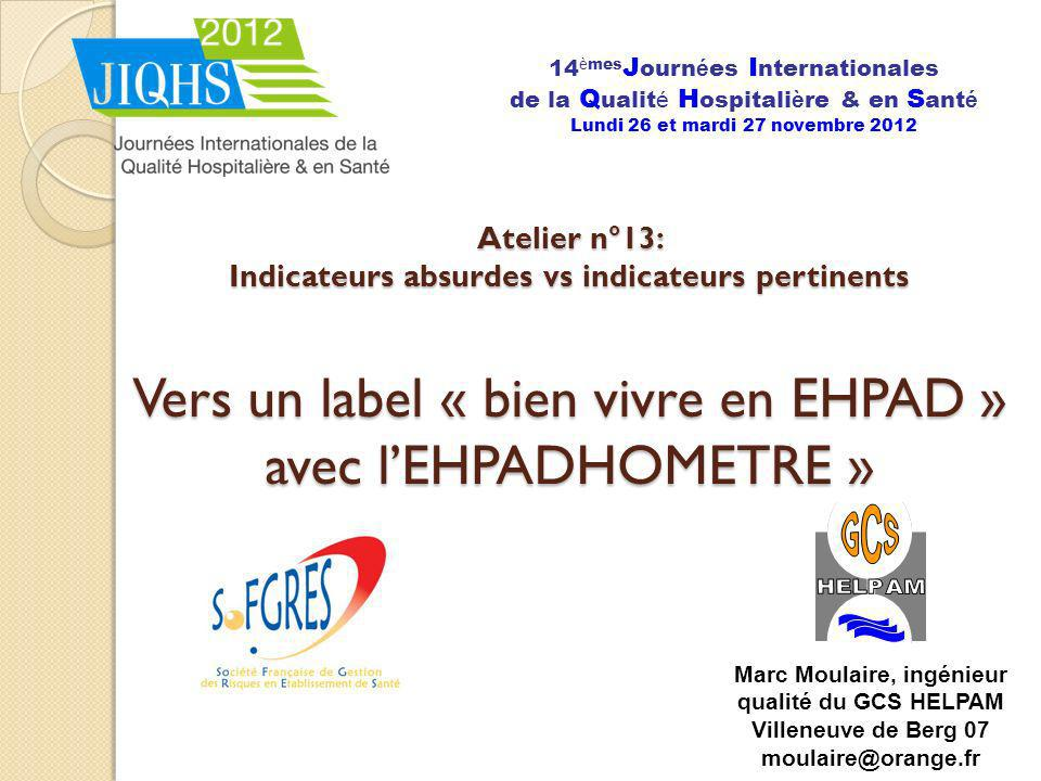14èmesJournées Internationales de la Qualité Hospitalière & en Santé