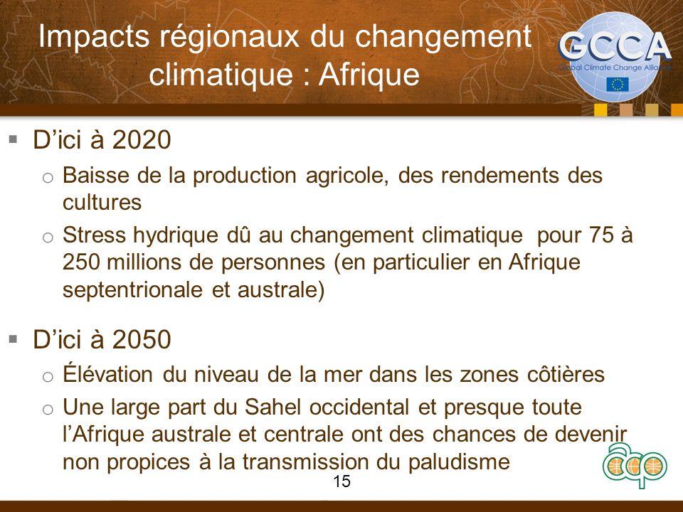 Impacts régionaux du changement climatique : Afrique