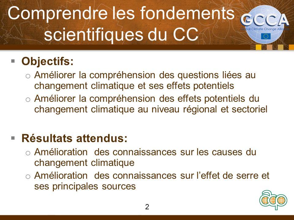 Comprendre les fondements scientifiques du CC