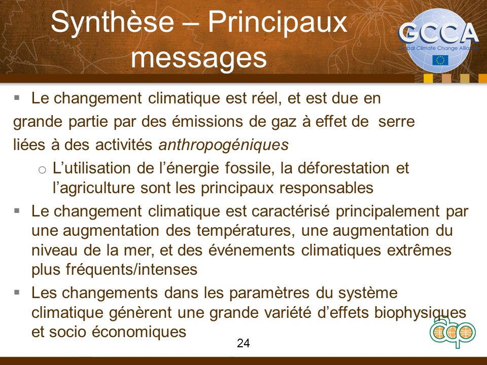 Synthèse – Principaux messages