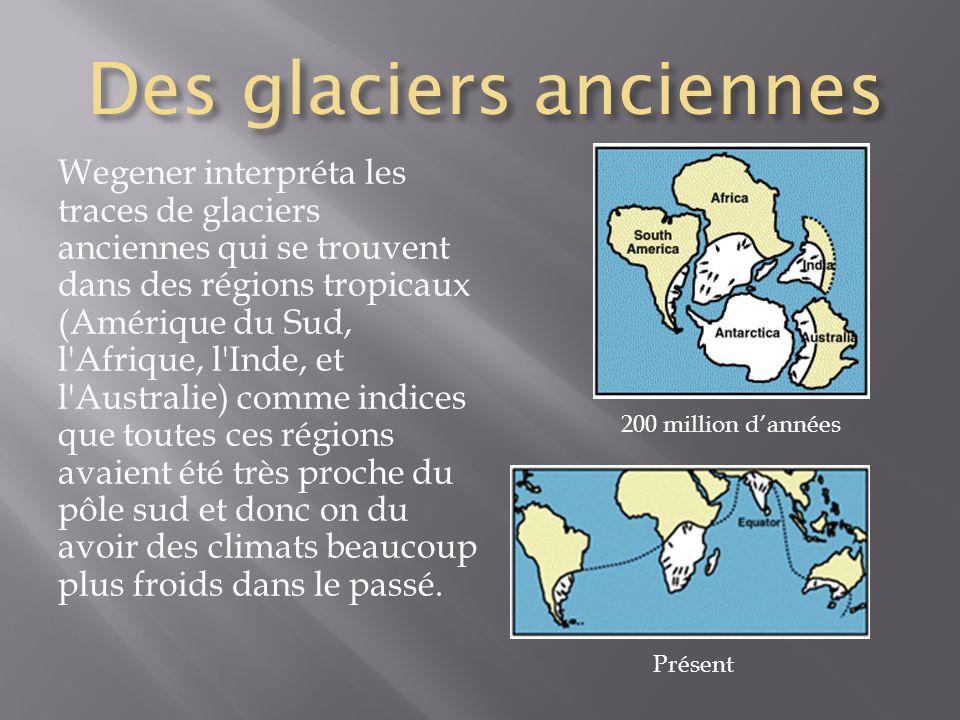 Des glaciers anciennes