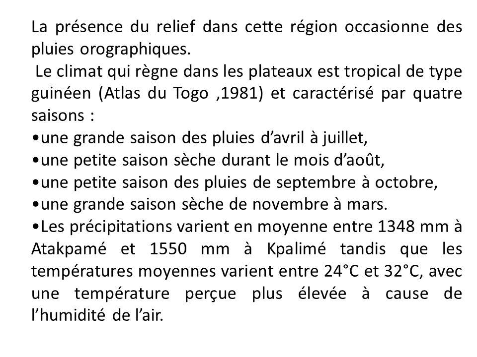 La présence du relief dans cette région occasionne des pluies orographiques.