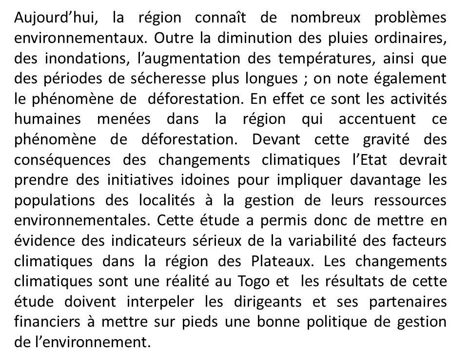 Aujourd'hui, la région connaît de nombreux problèmes environnementaux
