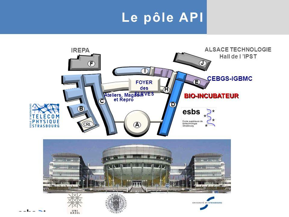 Le pôle API IREPA CEBGS-IGBMC BIO-INCUBATEUR ALSACE TECHNOLOGIE