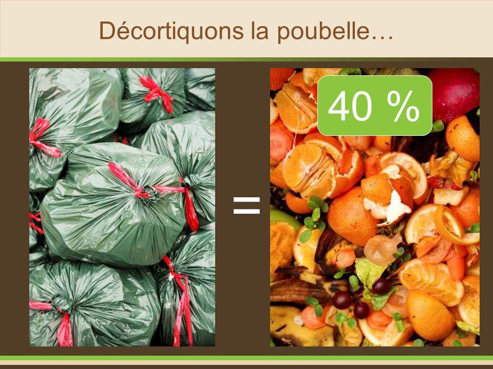 Décortiquons la poubelle…
