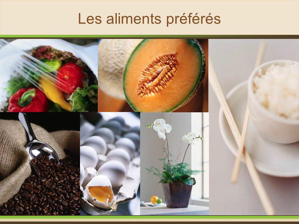 Les aliments préférés Restes de fruits et légumes crus ou cuits