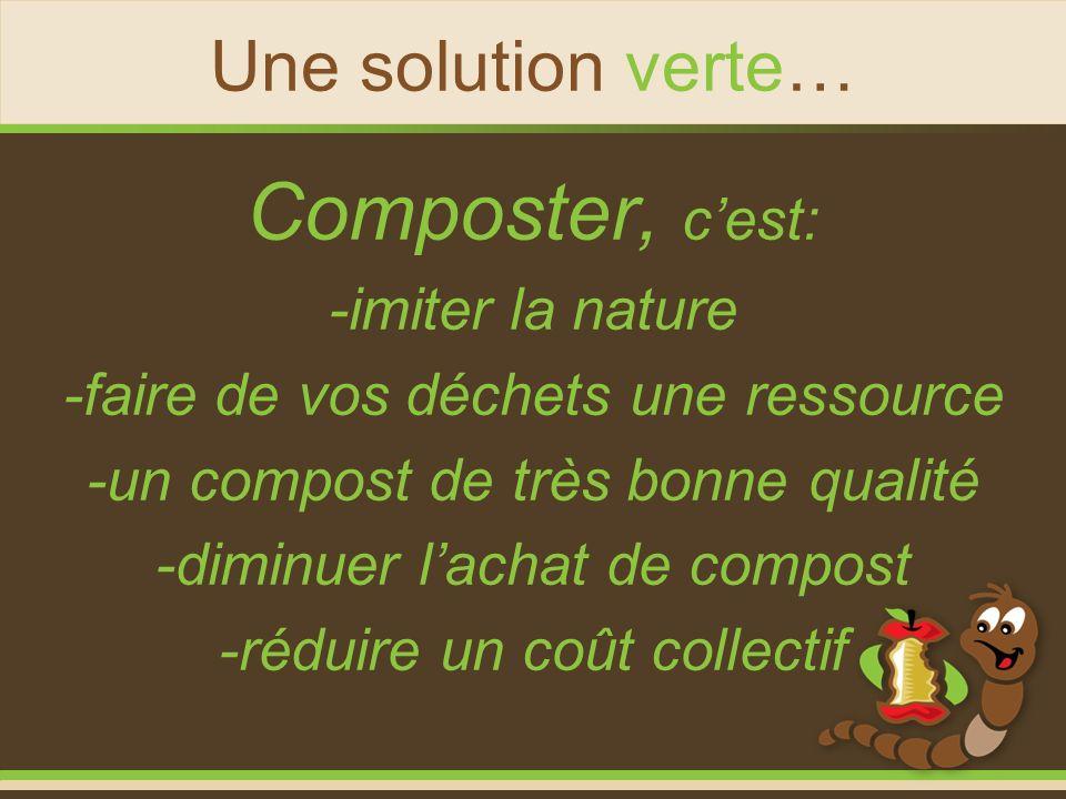 Composter, c'est: Une solution verte… -imiter la nature