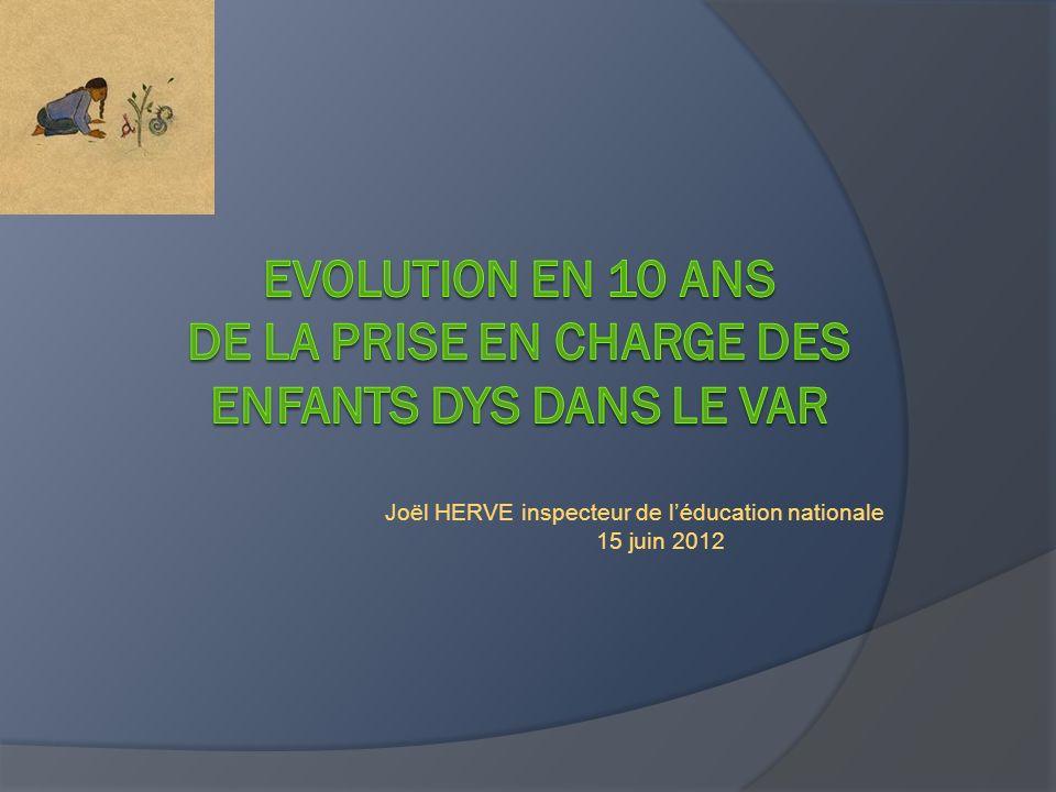 Evolution en 10 ans de la prise en charge des enfants dys dans le Var