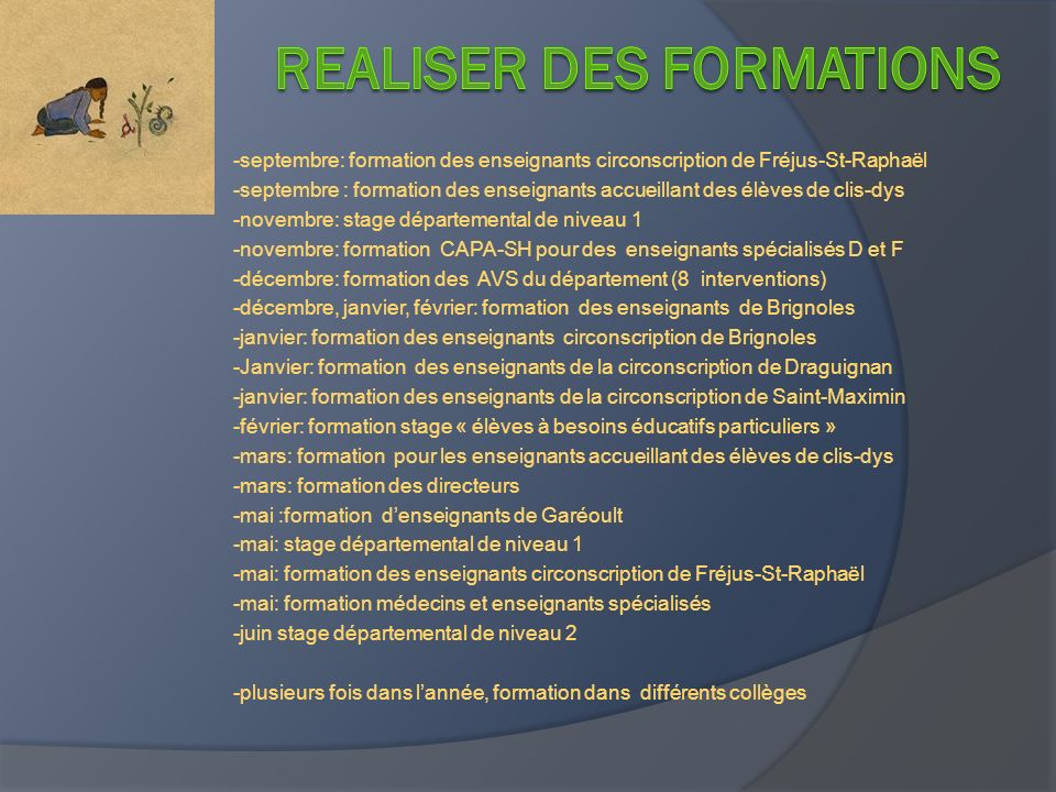 REALIser des formations