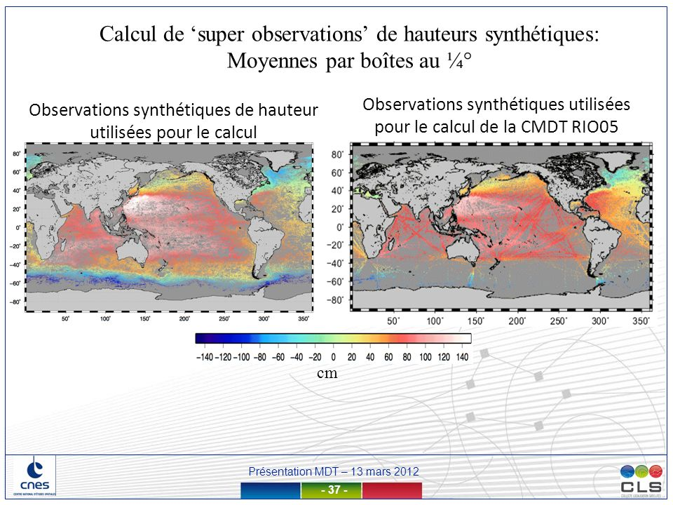 Calcul de 'super observations' de hauteurs synthétiques: Moyennes par boîtes au ¼°