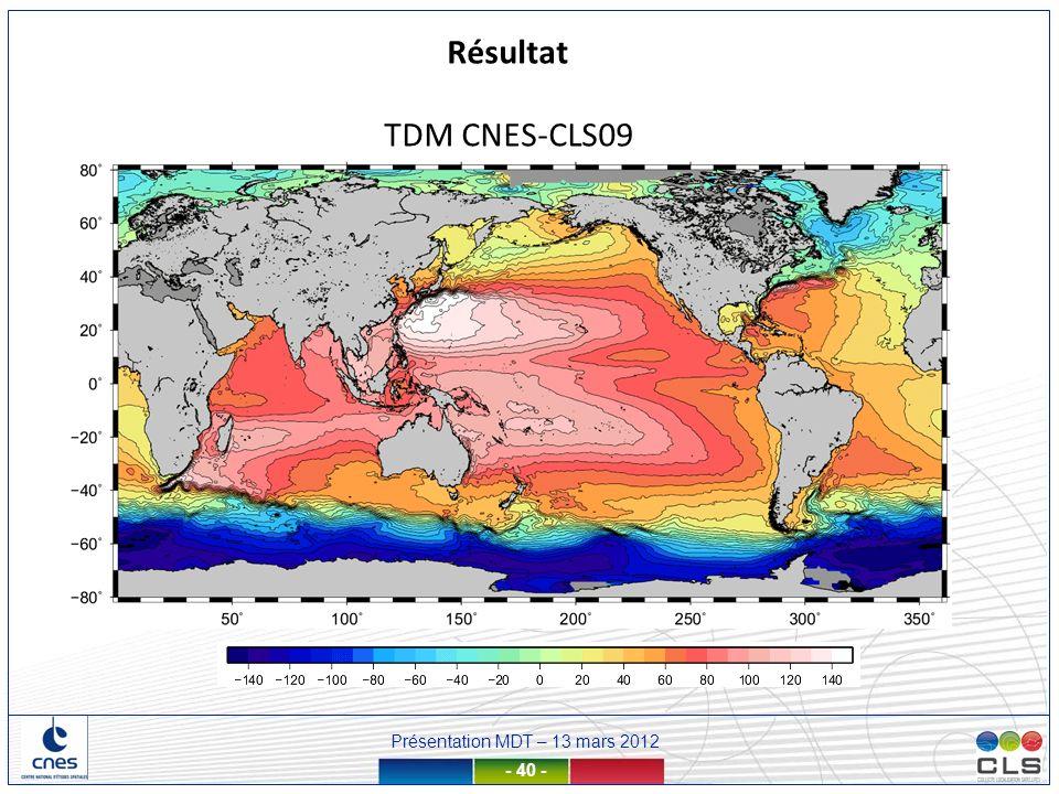 Résultat TDM CNES-CLS09