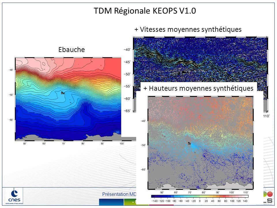 TDM Régionale KEOPS V1.0 + Vitesses moyennes synthétiques Ebauche