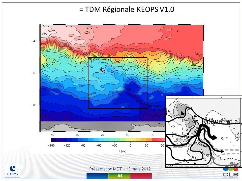 = TDM Régionale KEOPS V1.0 Roquet et al, 2009