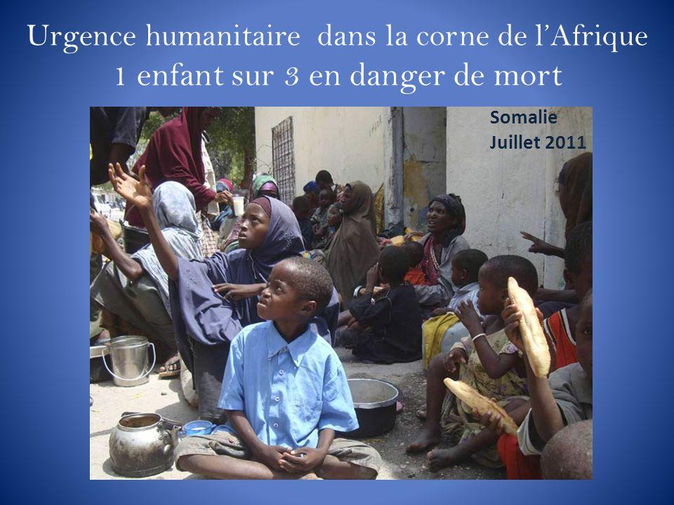 Urgence humanitaire dans la corne de l'Afrique 1 enfant sur 3 en danger de mort