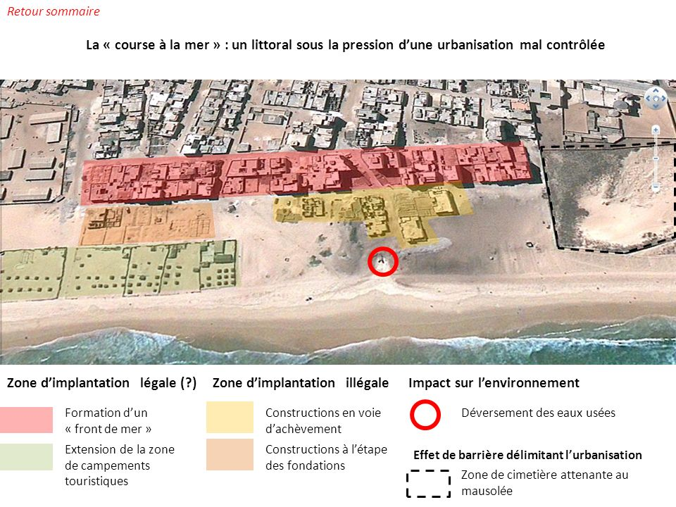 Zone d'implantation légale ( ) Zone d'implantation illégale