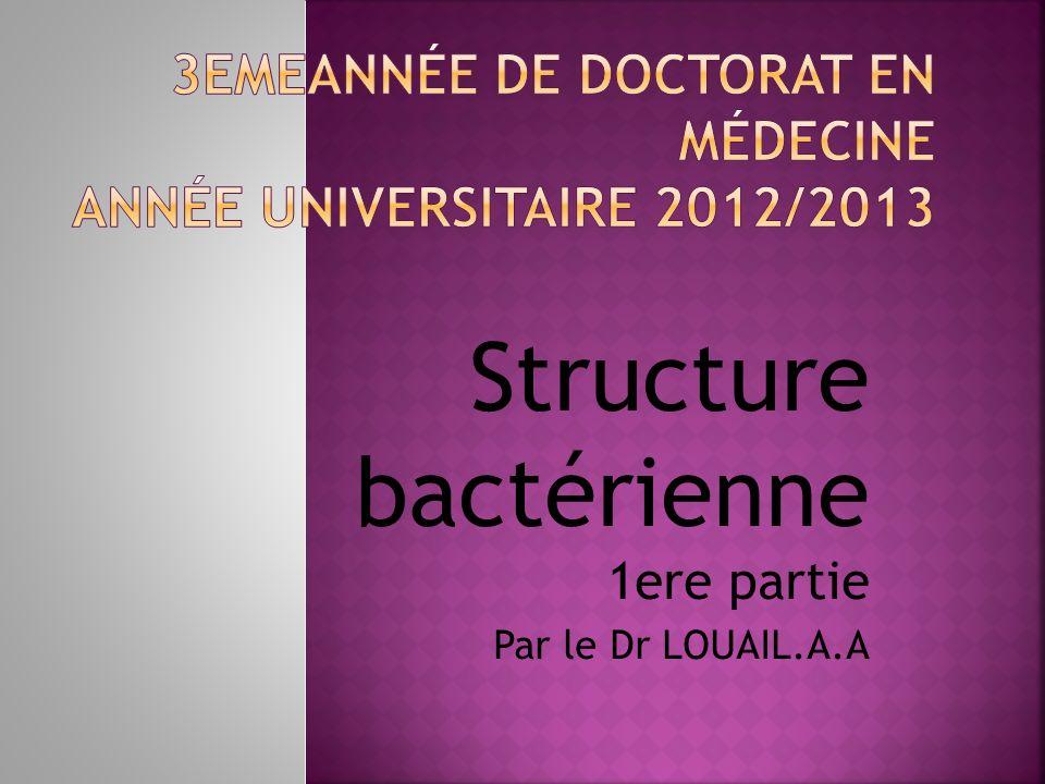3emeAnnée de Doctorat en médecine Année universitaire 2012/2013