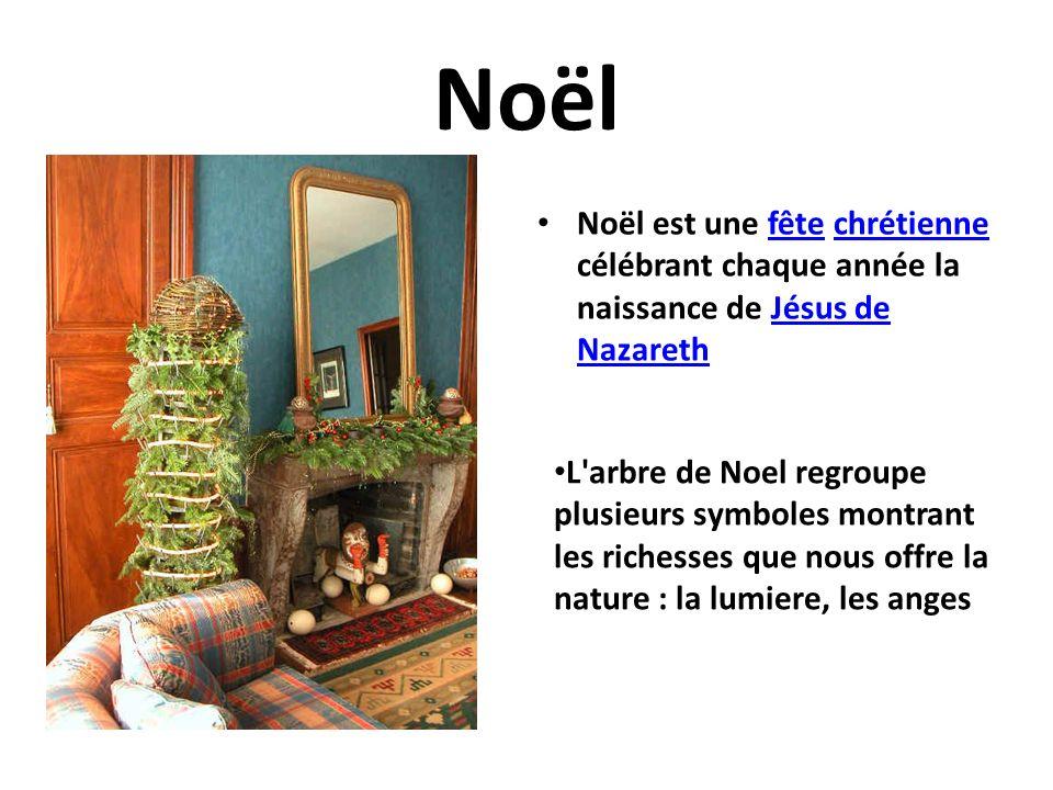 Noël Noël est une fête chrétienne célébrant chaque année la naissance de Jésus de Nazareth.