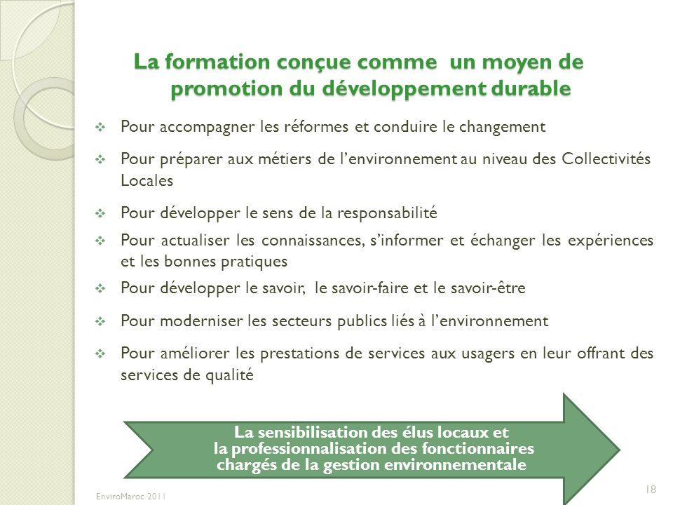 La formation conçue comme un moyen de promotion du développement durable