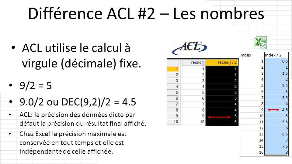 Différence ACL #2 – Les nombres