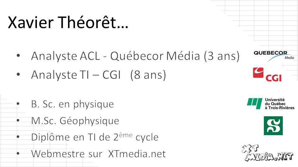 Analyste ACL - Québecor Média (3 ans) Analyste TI – CGI (8 ans)